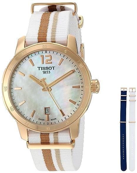 Tissot Reloj Analógico para Mujer de Cuarzo con Correa en Nailon T095.410.37.117.00