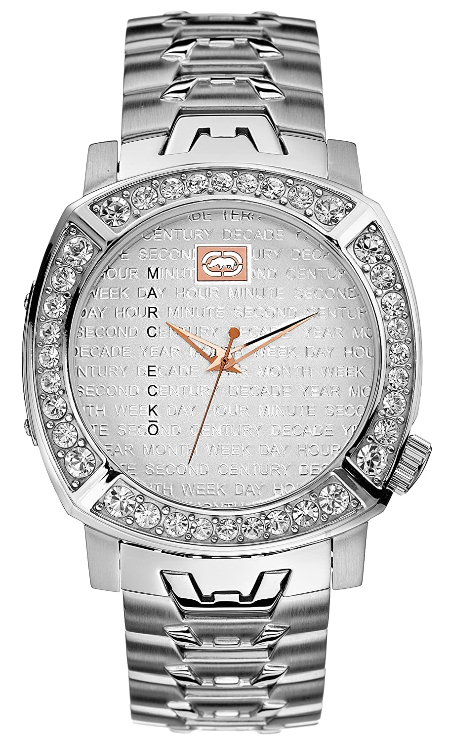 Amazon.com: Marc Ecko Mens E13543G1 The Grand Silver Stainless Steel Watch: Watches