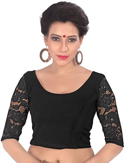 80cf4ed029 Amazon.com: Fressia Saree Blouse Readymade Stretchable Cotton Lycra Free  Size Stitched Saree Blouses for Women Party Wear: Clothing