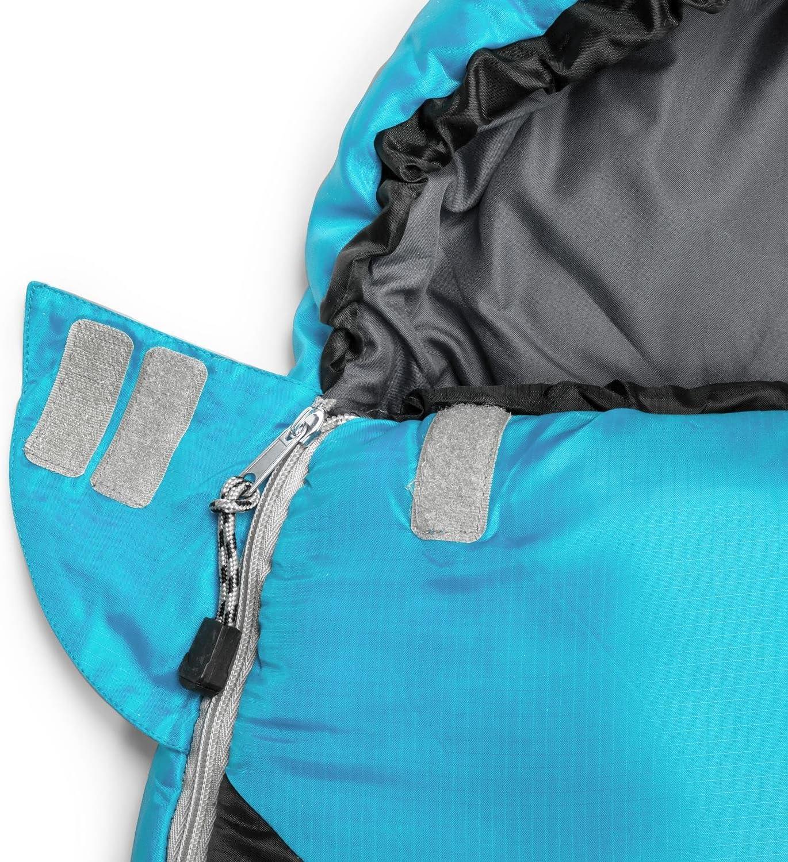 - Bleu Sac de Couchage sarcophage pour Enfant r/églable Yukatana Pjanda 300g//m/², Polyester