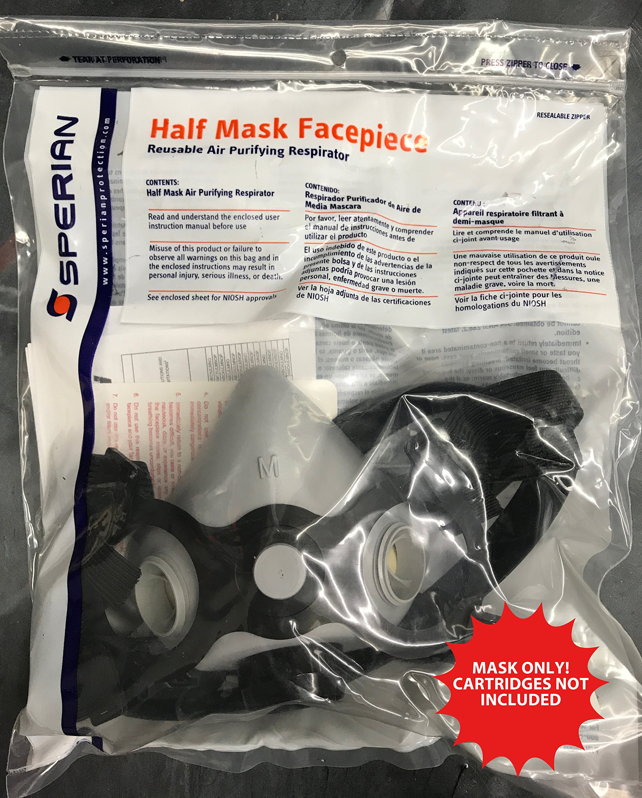 Half Mask Respirator - Reusable Air Purifying Mask (Medium)
