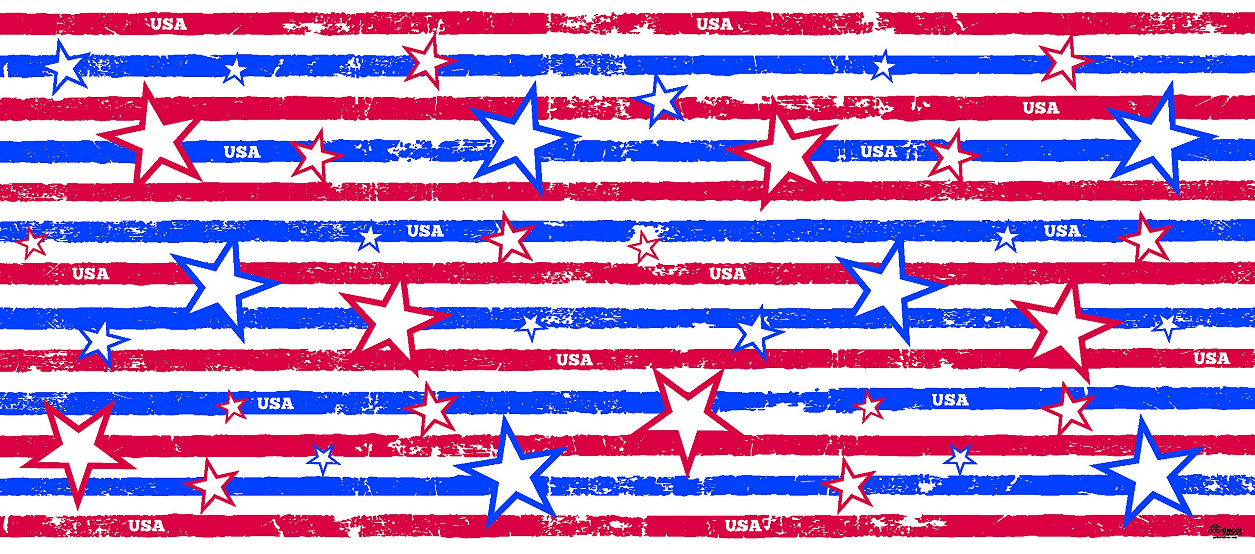 Victory Corps Stars and Stripes - Patriotic Garage Door Banner Mural Sign Décor 7'x 16' Car Garage - The Original Holiday Garage Door Banner Decor