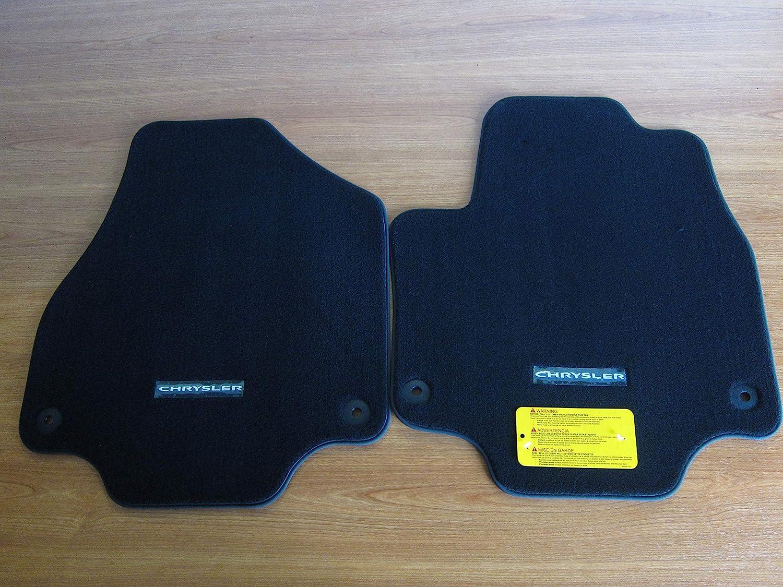Black CFMDX1CR9339 Nylon Carpet Coverking Custom Fit Rear Floor Mats for Select Chrysler Pacifica Models