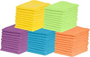 Microfiber Cleaning Cloths- for Kitchen, Car, Super Absorbent Cloths - Polishing Shop Rags with Streak Free Finish for Indoor, Outdoor Surfaces - Premium Dusting Huck Towels (50 Pack)