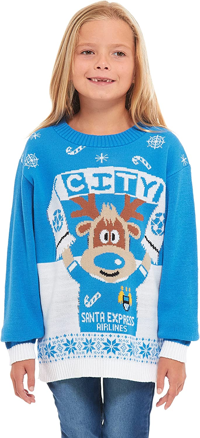 Retro Elf HSA Girls Kids Boys Children Unisex Christmas Xmas Knitted Novelty Star Wars Football Jumper Sweater Christmas Xmas Exclusively to Ltd for Ages 2-14 Years