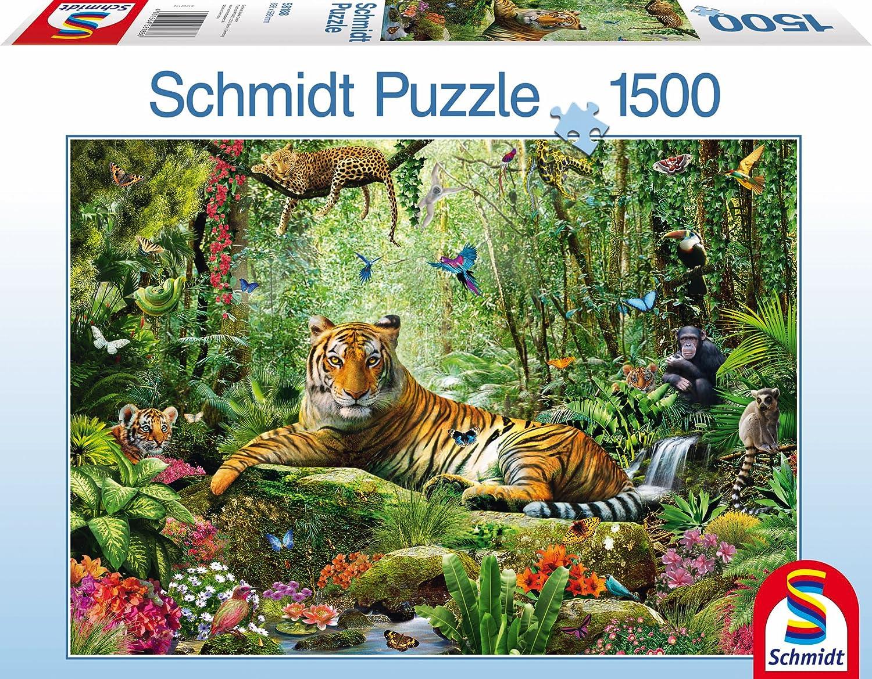 1500ピース ジグソーパズル Tigers Schmidt-Spiele 虎のジャングル トラ 1500ピース Jungle Tigers 58.8×83.6cm B00DZLSE90 58188 B00DZLSE90, キノサキチョウ:f46760c5 --- sharoshka.org