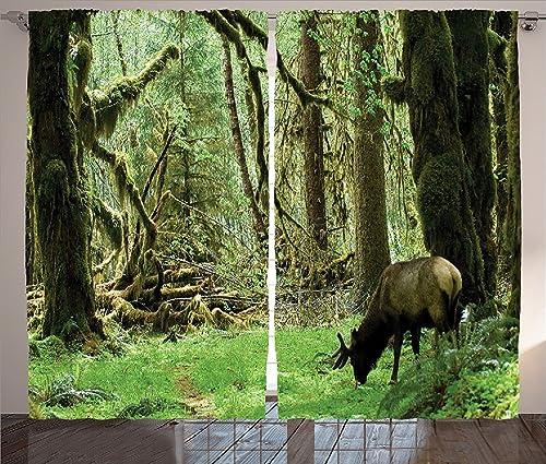 sophiehome Rainforest Decorations Curtains Roosevelt Elk