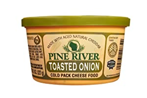 Pine River Wisconsin Toasted Onion Cheese Spread - 3 pack of 8oz - 24oz