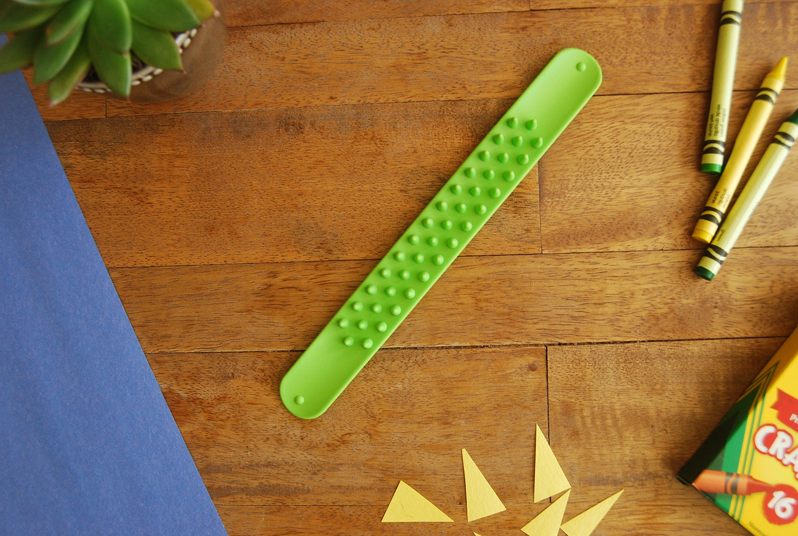 Spiky Slap Bracelets / Slap Bands (3 Pack) - Great Sensory Toys / Fidget Toys - BPA/Phthalate/Latex-Free by Impresa Products (Image #2)