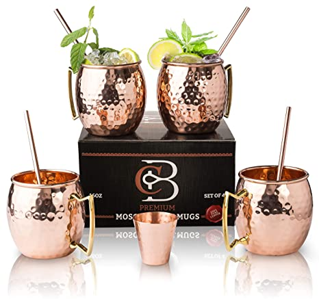 a5f441dcfc48 Amazon.com  Moscow Mule Mugs 100% Solid Copper