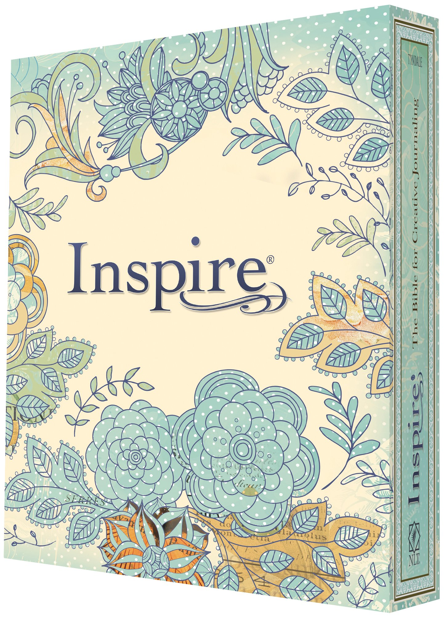 Inspire Bible NLT The For Coloring Creative Journaling Tyndale Christian Art 9781496419842 Books