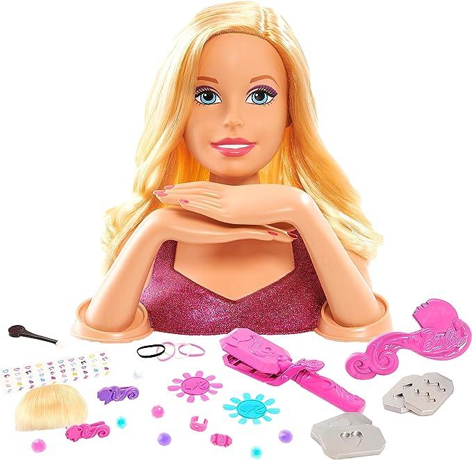 Amazon.es: Barbie - Deluxe Styling Head, Estuche de Maquillaje (Giochi Preziosi BAR02000): Juguetes y juegos
