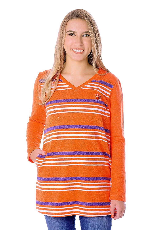 X-Large UG Apparel NCAA Womens Fleece Tunic Orange//Purple