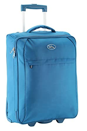 Exceptionnel Palma Lightweight Trolley Cabin Luggage Suitcase 55 X 40 X 20 (Blue)