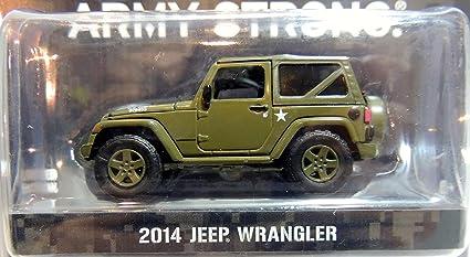 Amazon Com Greenlight 2014 Jeep Wrangler Us Army 1 64 Scale Dark