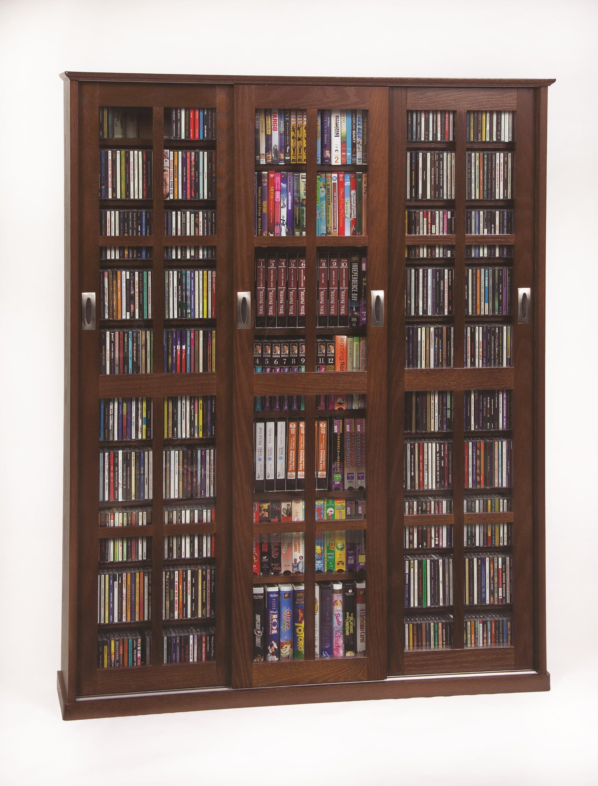 Leslie Dame 61'' Triple CD DVD Wall Media Cabinet in Walnut by Leslie Dame Enterprises