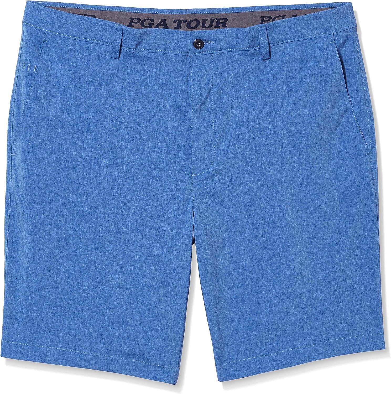 PGA TOUR Men's Flat Front Active Waistband Short