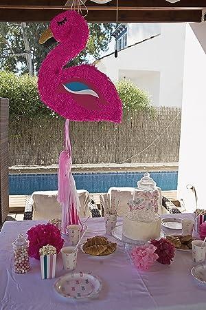 Mery&Lola Party Deco PIÑATA FLAMENCO 50*57 Cm, PIÑATA NIÑAS, PIÑATA CUMPLEAÑOS