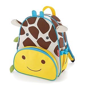 """Skip Hop Toddler Backpack, 12"""" School Bag, Giraffe"""