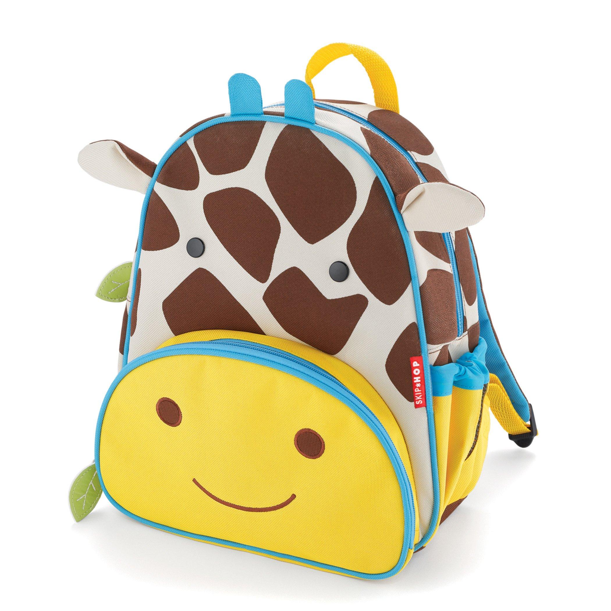 """Toddler Backpack, 12"""" Giraffe School Bag, Multi"""