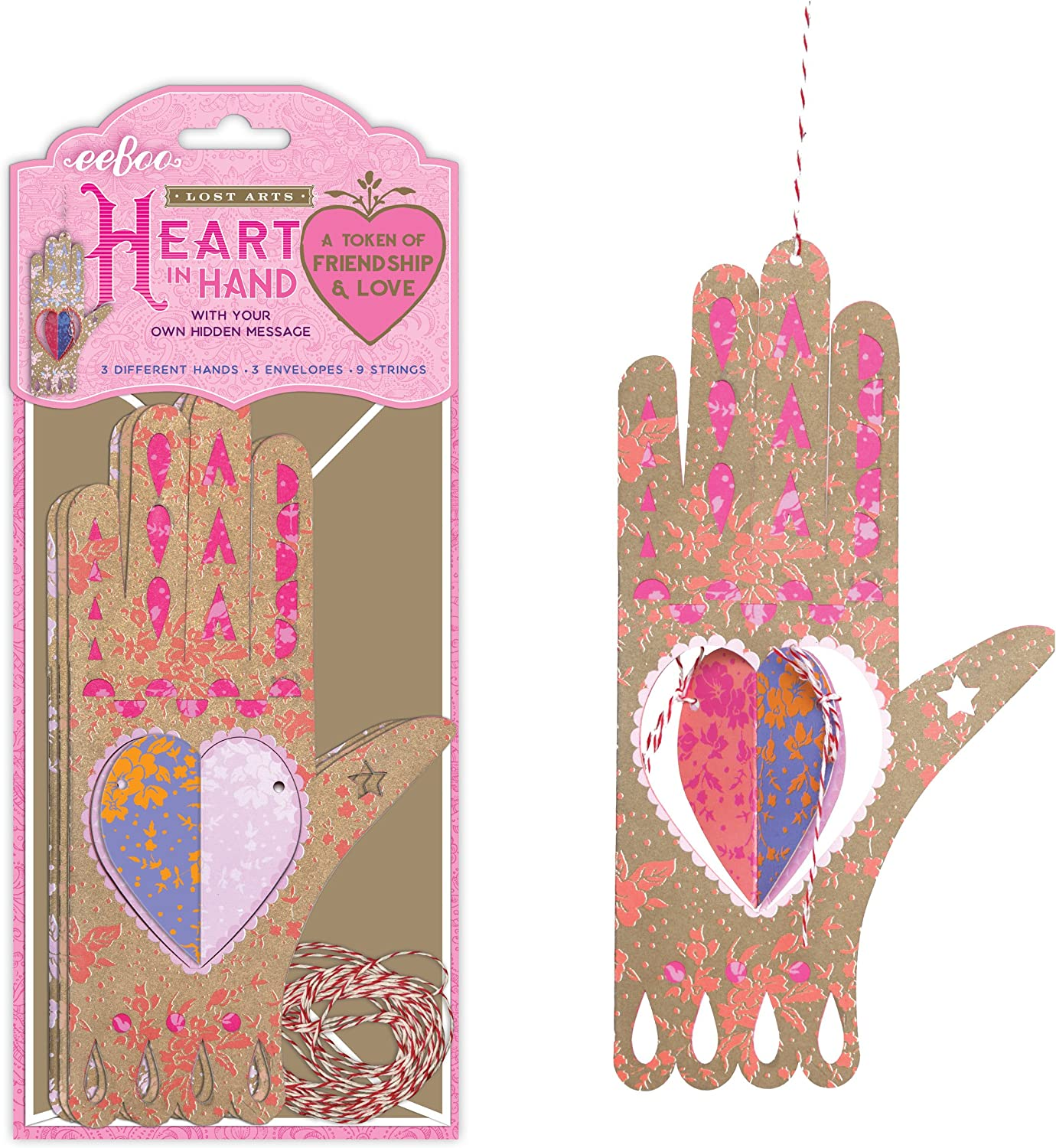 Woven Heart eeBoo Lost Arts Valentine Token