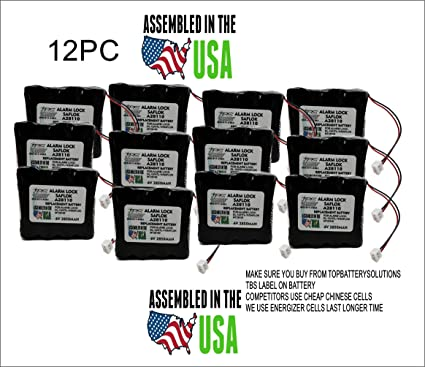 12PC SAFLOK A28110 Replaces HTL11 6V HOTEL DOOR LOCK BATTERY