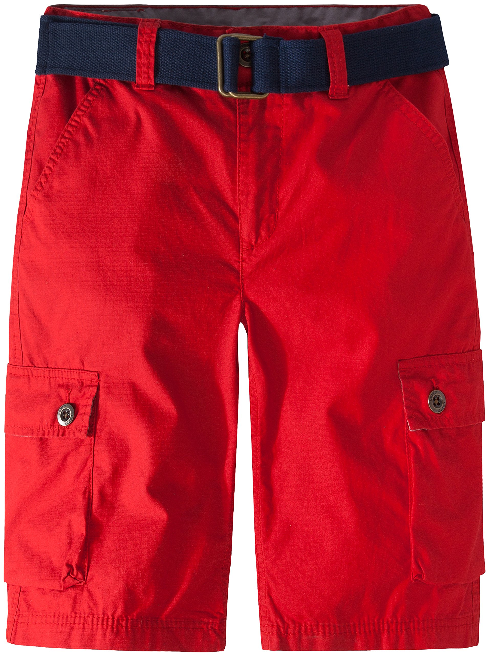 Levi's Boys Cargo Shorts, Pompeian Red, 12