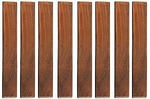 Bare Decor BARE-WF2012 EZ Loop Ends Side Trim Piece Interlocking Flooring in Solid Teak Wood 8 Pin, Brown