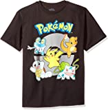 Pokemon Boys' Group Youth Short-Sleeved Tee Tearaway Label