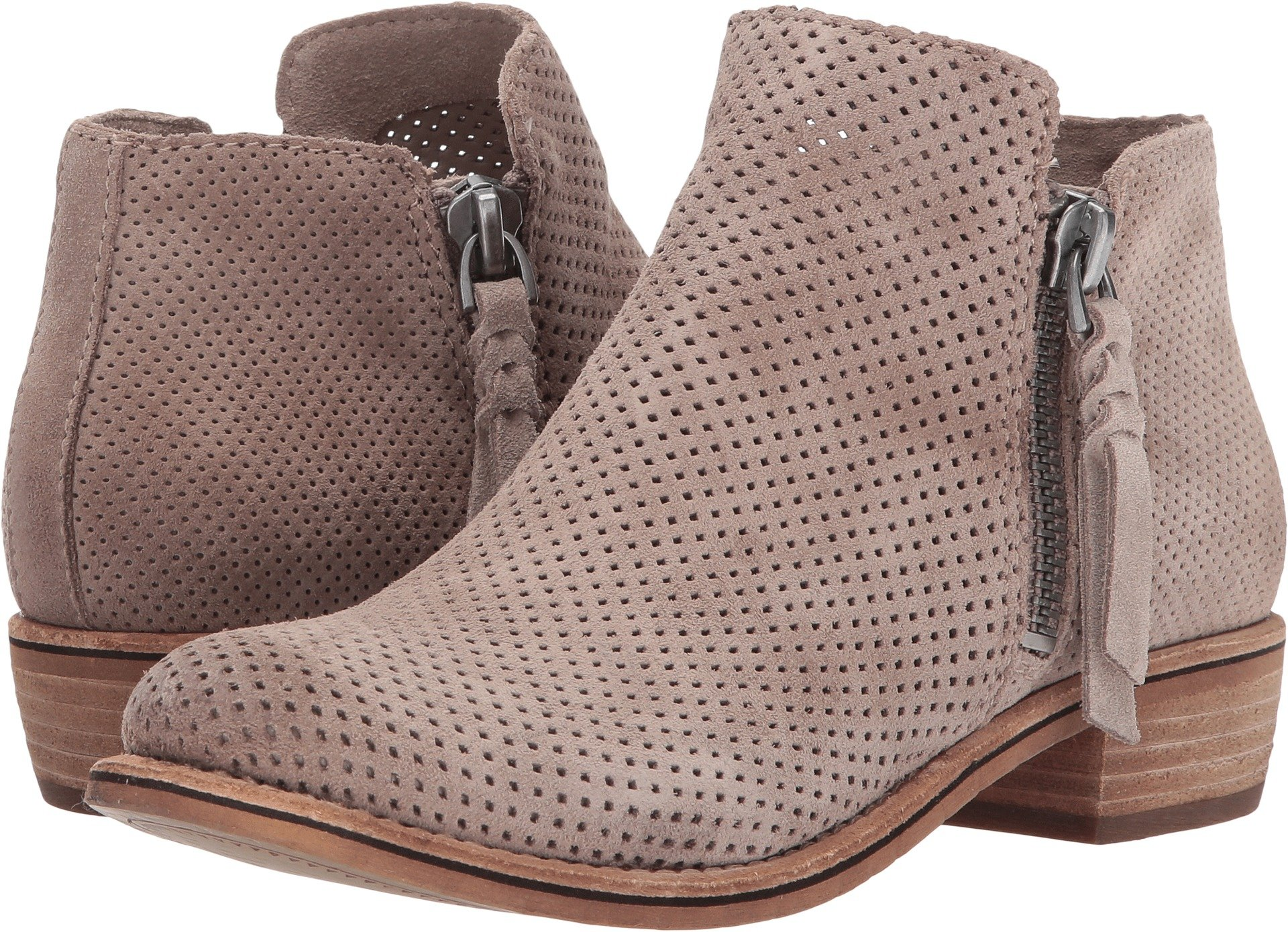 Dolce Vita Women's Sevi Ankle Boot, Taupe Suede, 6 Medium US