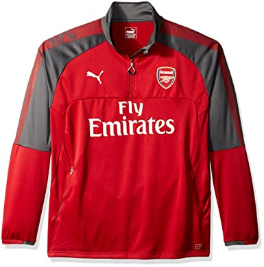 Amazon.com  PUMA Men s Arsenal Fc 1 4 Training Top with Sponsor  Clothing 7fadf3ffc
