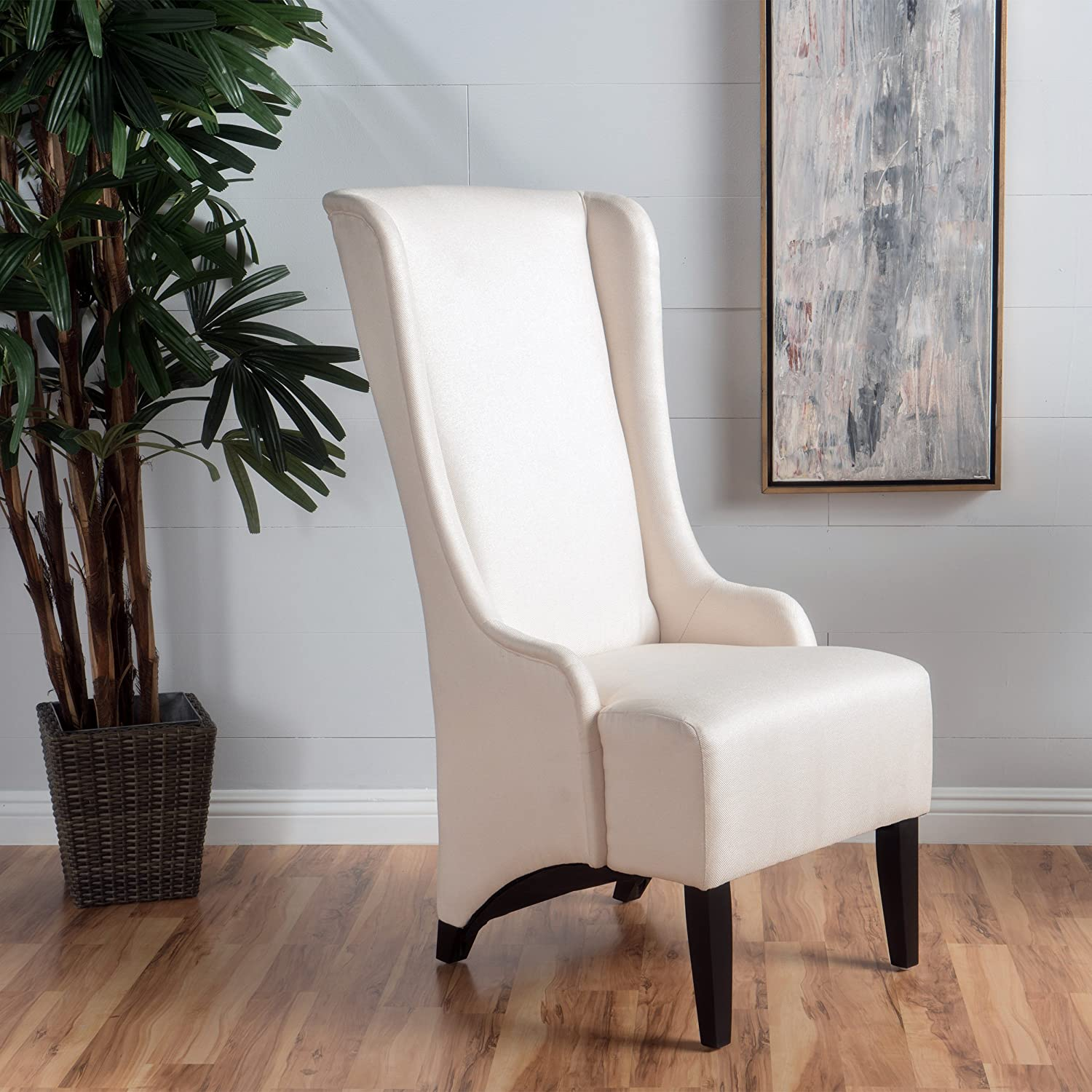 Christopher Knight Home Callie Dining Chair, 23.25 x 28.75 x 46.25 , Beige