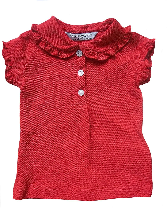 Mayoral Poloshirt Kurzarm für Kleine Mädchen Rot 114