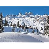 Fototapete alpen panorama wandbild dekoration winter - Alpen dekoration ...