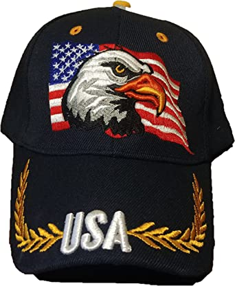 New Patriotic American Eagle and American Flag Baseball Cap USA 3DEmbroidery hat