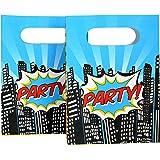 Loot partie d'enfants Sacs x 8 - Pop Party Superhero d'art