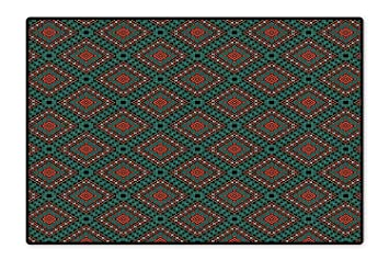 Amazon Com Custom Area Rug Ancient Border Navajo Tribal Symbol