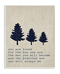 Stupell Home Décor You are Loved Son Trees Wall Plaque Art, 10 x 0.5 x 15, Proudly Made in USA