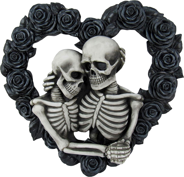 Black Rose Heart Gothic Decor