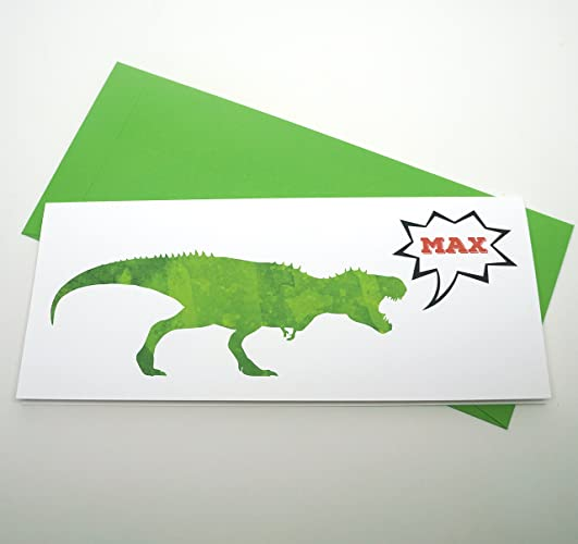 Amazon Personalized Watercolor T Rex Dinosaur Birthday