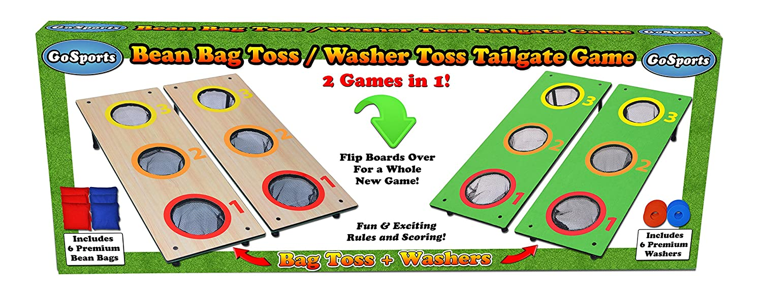 Excellent Amazon Com Gosports 3 Hole Cornhole Washer Toss Tailgate Onthecornerstone Fun Painted Chair Ideas Images Onthecornerstoneorg