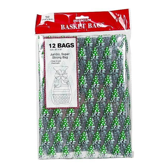 Amazon.com: Bolsas de plástico transparente para cesta de ...