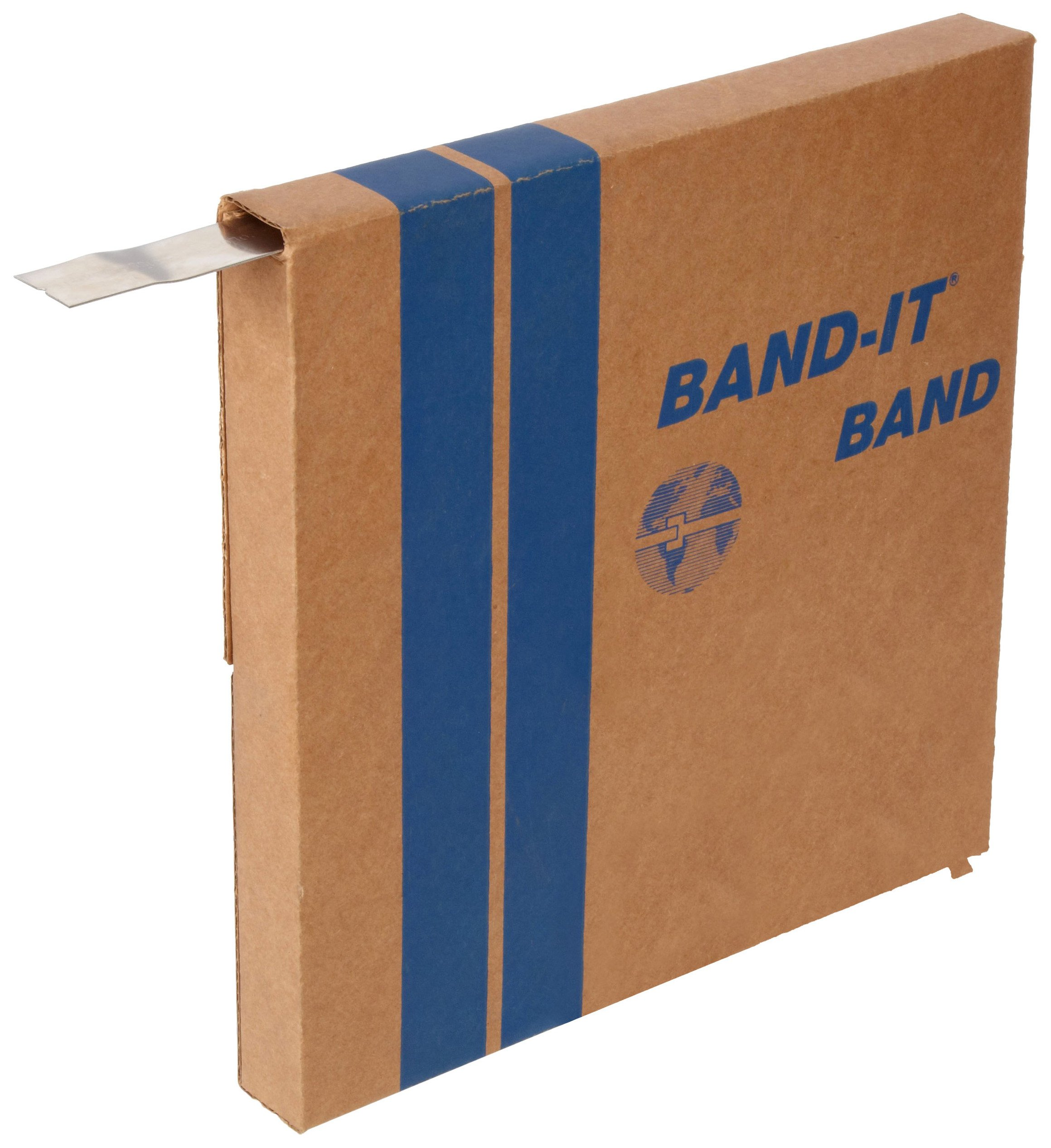 BAND-IT C20299 201 Stainless Steel Bright Annealed Finish Band, 1/4'' Width X 0.020'' Thick, 100 Feet Roll