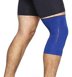 d45a197c69 Tommie Copper Men's Contoured Compression Knee Sleeve, Cobalt Blue, X-Large