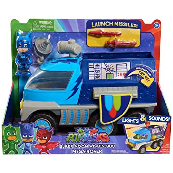 Amazon.com: PJ Masks Super Moon Mega Rover: Toys & Games