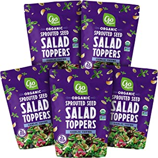 product image for Go Raw Pumpkin & Sunflower Seed Mix, Garlic Thyme Salad Topper, 4 oz. Bags (Pack of 5) — Keto | Vegan | Gluten Free | Organic
