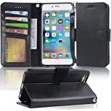 Arae Wallet case for iPhone 6s Plus/iPhone 6 Plus [Kickstand Feature] PU Leather with ID&Credit Card Pockets for iPhone 6 Plu