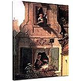 """Bilderdepot24 tela di canapa Carl Spitzweg - Antichi Maestri """"La lettera d'amore intercettata"""" 30x40cm - completamente incorniciato, direttamente dal produttore"""