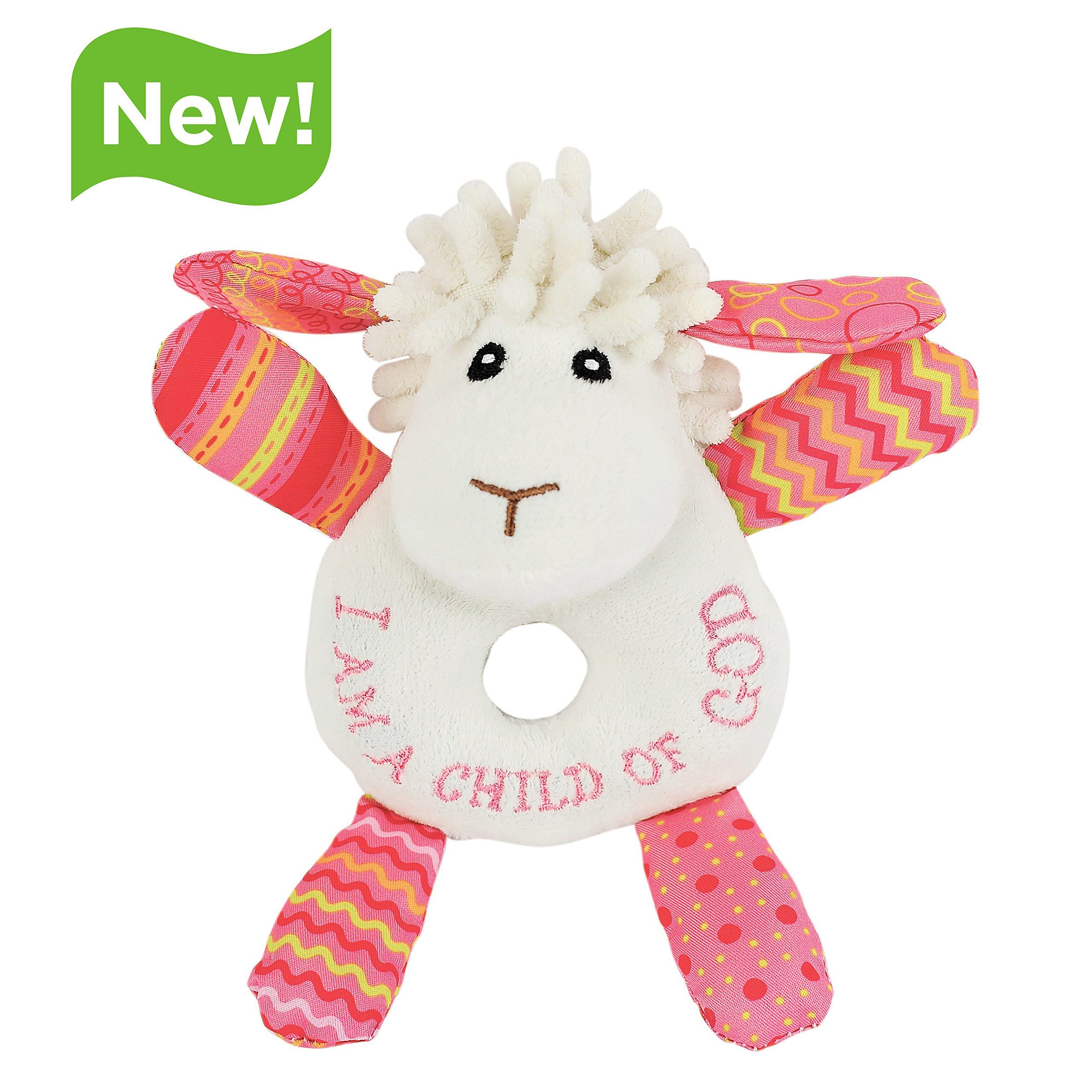 Lil' Prayer Buddy Lucy the Little Lamb Child of God Pink Plush Stuffed Animal