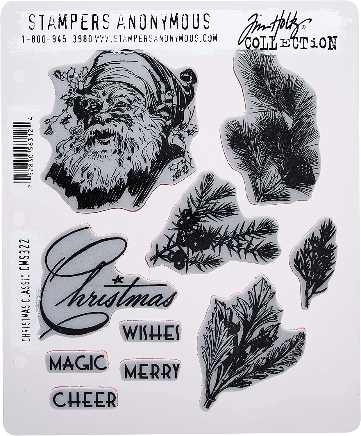 Tim Holtz Stampers Anonymous Cling Stamps Yuletide